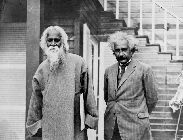 Einstein and Tagore meet to discuss music